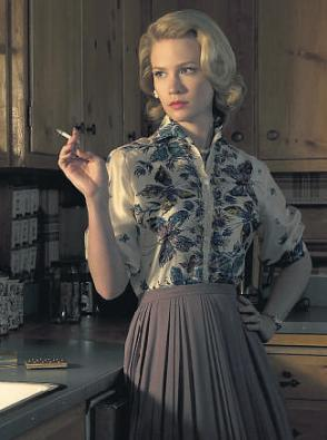 "Betty Draper ""coping with her cigarette"""